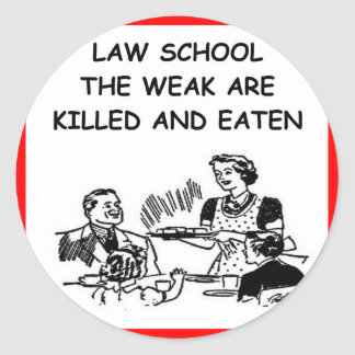 colegio de abogados pegatina redonda