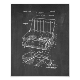 Coleman Camp Stove Patent - Chalkboard Print