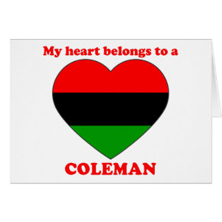 Coleman Cards