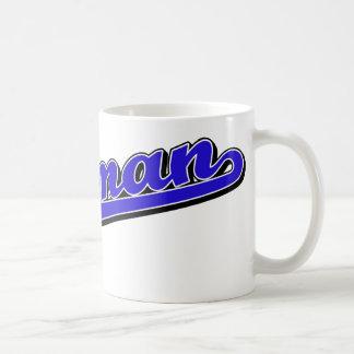 Coleman en azul taza de café