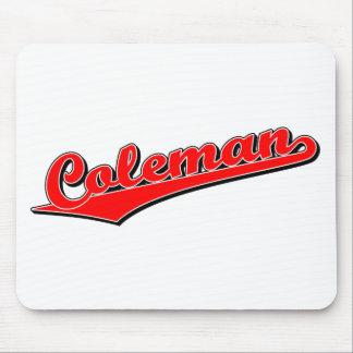 Coleman en rojo alfombrilla de ratones