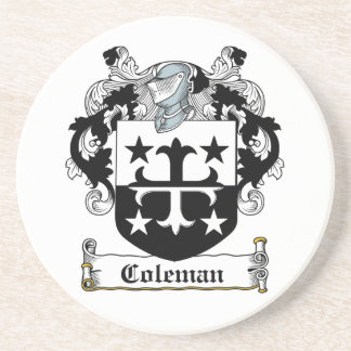 Coleman Family Crest Drink Coaster