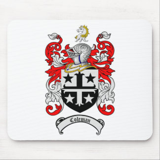 COLEMAN FAMILY CREST -  COLEMAN COAT OF ARMS MOUSE PAD