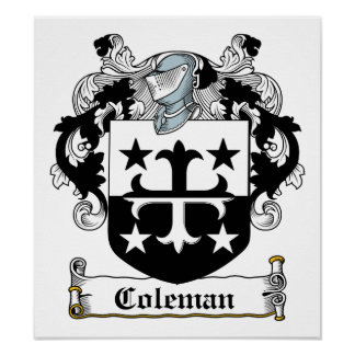 Coleman Family Crest Poster