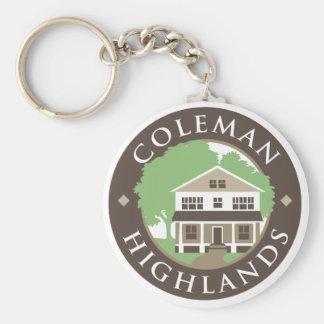 Coleman Highlands Basic Round Button Keychain
