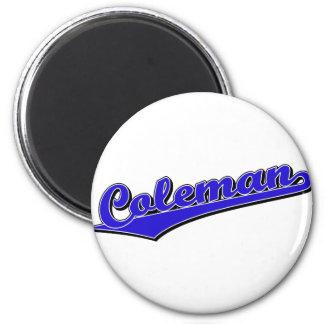 Coleman in Blue 2 Inch Round Magnet