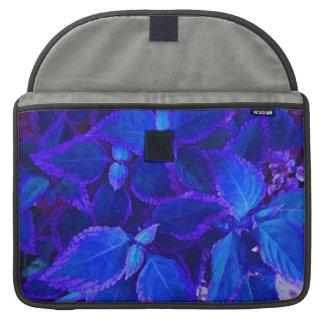 Coleo colorized azul de la planta funda para macbooks