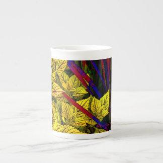 Coleo e hierba taza de porcelana