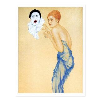 Cólera - de la serie del amor del Pierrot Tarjetas Postales