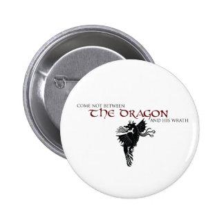 Cólera del dragón pin redondo de 2 pulgadas