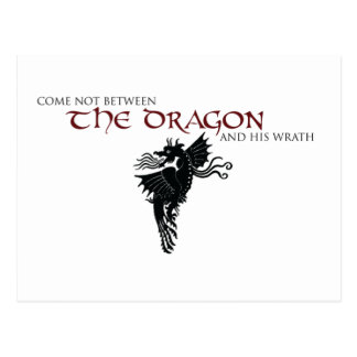 Cólera del dragón tarjeta postal