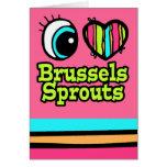 Coles de Bruselas brillantes del amor del corazón  Felicitación