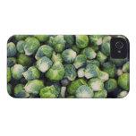 Coles de Bruselas frescas verdes claras iPhone 4 Cárcasas