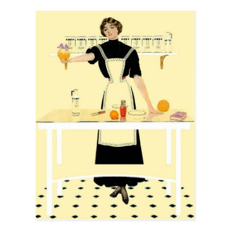 "Coles Phillip - postal de la ""cocina"""
