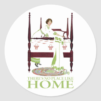 Coles Phillips Fade - There's No Place Like Home Classic Round Sticker