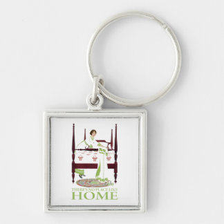 Coles Phillips Fade - There's No Place Like Home Silver-Colored Square Keychain