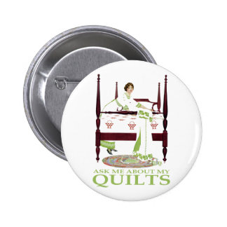 Coles Phillips Fadeaway - Ask Me About My Quilts Button