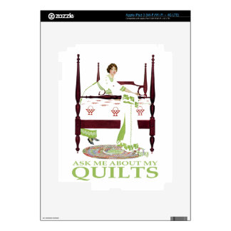 Coles Phillips Fadeaway - Ask Me About My Quilts Decal For iPad 3