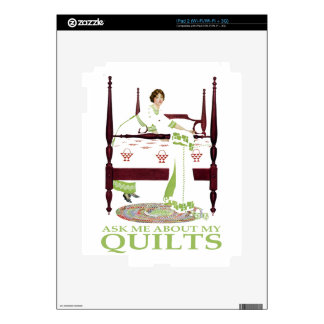 Coles Phillips Fadeaway - Ask Me About My Quilts Decals For The iPad 2