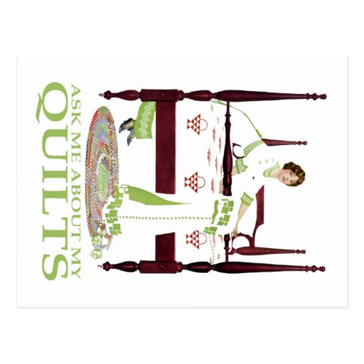 Coles Phillips Fadeaway - Ask Me About My Quilts Post Card
