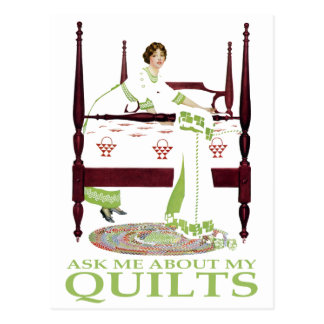 Coles Phillips Fadeaway - Ask Me About My Quilts Postcard