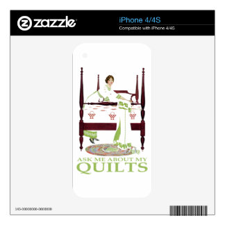 Coles Phillips Fadeaway - Ask Me About My Quilts Skin For The iPhone 4