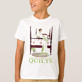 Coles Phillips Fadeaway - Ask Me About My Quilts T-Shirt