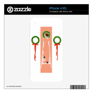 Coles Phillips Fadeaway Christmas Deck The Halls Decals For The iPhone 4S