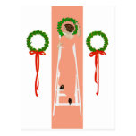 Coles Phillips Fadeaway Christmas Deck The Halls Post Card