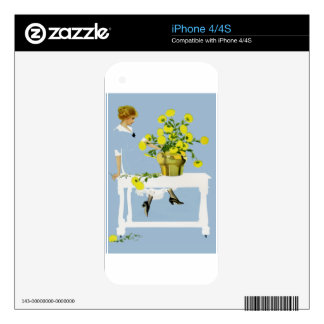 Coles Phillips Fadeaway Chrysanthemums iPhone 4S Skins