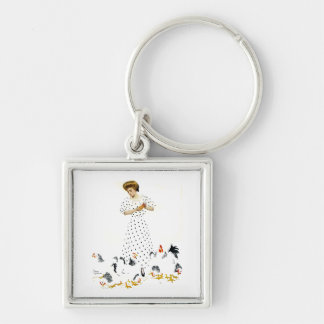 Coles Phillips Fadeaway Farmer's Daughter Keychain