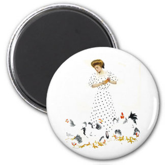 Coles Phillips Fadeaway Farmer's Daughter Magnet