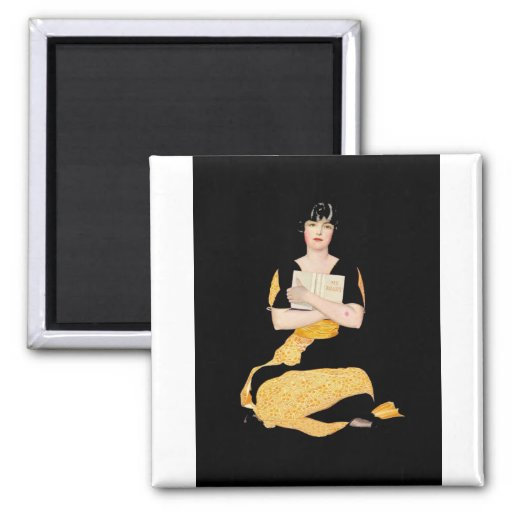 Coles Phillips Fadeaway Girl - Diary 2 Inch Square Magnet