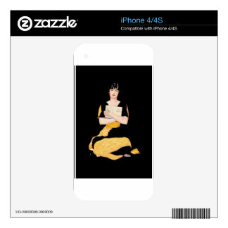 Coles Phillips Fadeaway Girl - Diary Skin For iPhone 4S