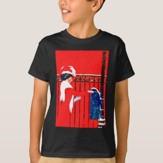 Coles Phillips Fadeaway Girl - White Christmas T-Shirt