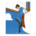 Coles Phillips Fadeaway - Sailing On Blue Oceans Postcards