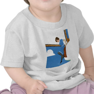 Coles Phillips Fadeaway - Sailing On Blue Oceans Tee Shirt