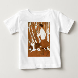 Coles Phillips  Fadeaway Woman Jogging with Collie Baby T-Shirt
