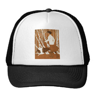 Coles Phillips  Fadeaway Woman Jogging with Collie Trucker Hat