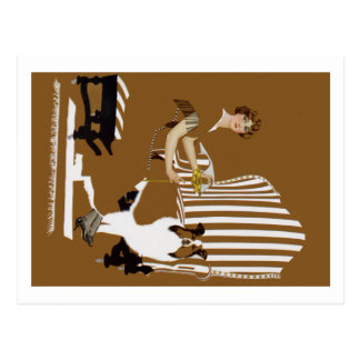 Coles Phillips Fadeaway Woman With Collie Postcard