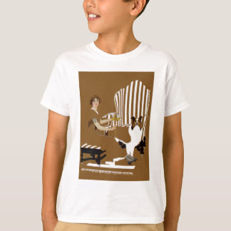 Coles Phillips Fadeaway Woman With Collie T-Shirt
