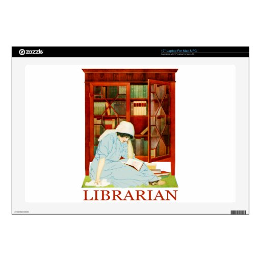 """Coles Phillips Librarian Decal For 17"""" Laptop"""