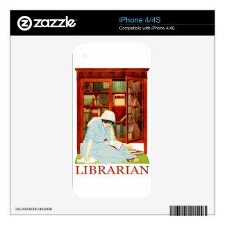 Coles Phillips Librarian iPhone 4 Decals