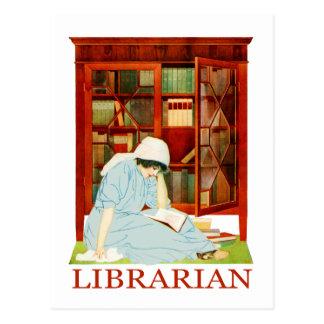Coles Phillips Librarian Postcard