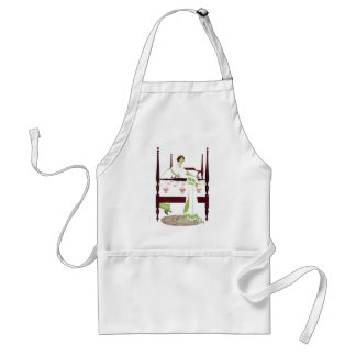 Coles Phillips Woman and Four Poster and Quilts Adult Apron