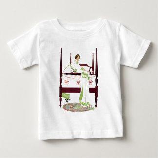Coles Phillips Woman and Four Poster and Quilts Baby T-Shirt