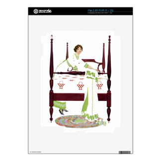 Coles Phillips Woman and Four Poster and Quilts Decal For iPad 2