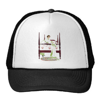 Coles Phillips Woman and Four Poster and Quilts Trucker Hat
