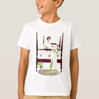 Coles Phillips Woman and Four Poster and Quilts T-Shirt