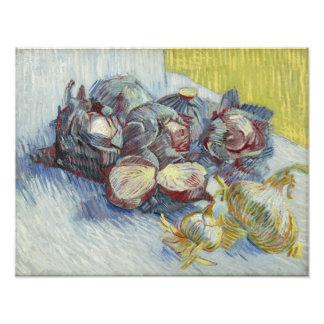 Coles rojas y cebollas de Vincent van Gogh Impresiones Fotograficas